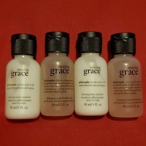 NEW 4pc Amazing Grace Shower Gel Lotion Travel Set